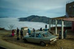Paesaggio di Rif Mountains, Marocco, Africa fotografia stock