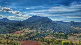 Paesaggio di Riopar fotografia stock libera da diritti