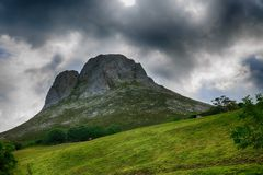 Paesaggio di Rocky Mountains in Spagna Fotografie Stock