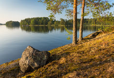 Paesaggio di Saimaa del lago Immagine Stock Libera da Diritti