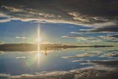 Paesaggio di Salar De Uyuni, Bolivia Fotografia Stock Libera da Diritti