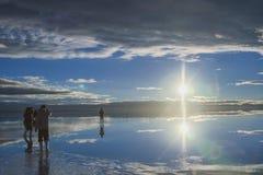 Paesaggio di Salar De Uyuni, Bolivia Fotografia Stock