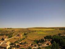 Paesaggio di Segovia, Castiglia y Leon fotografia stock libera da diritti