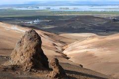 Paesaggio di sguardo naturale del paesaggio dell'Islanda Fotografia Stock Libera da Diritti