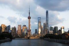 Paesaggio di Shanghai Fotografia Stock