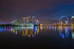 Paesaggio di Singapore Fotografia Stock