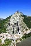 Paesaggio di Sisteron Fotografia Stock Libera da Diritti