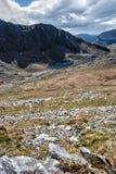 Paesaggio di Snowdonia con il lago Fotografia Stock Libera da Diritti
