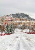 Paesaggio di Snowy di Campobasso Fotografia Stock