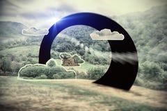 Paesaggio di sogno, attrazione della geometria Fotografia Stock Libera da Diritti