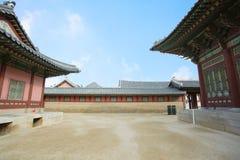 Paesaggio di storia della Corea del palazzo di Kyongbok bello Immagini Stock