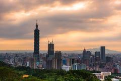 Paesaggio di Taipei Immagine Stock