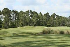 Paesaggio di terreno da golf Fotografie Stock Libere da Diritti