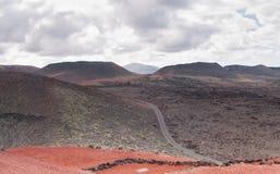 Paesaggio di Timanfaya Immagini Stock