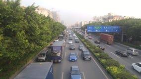 Paesaggio di traffico della sezione di Shenzhen della strada del cittadino 107, in Guangdong, la Cina Immagine Stock Libera da Diritti