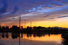 Paesaggio di tramonto Immagine Stock Libera da Diritti