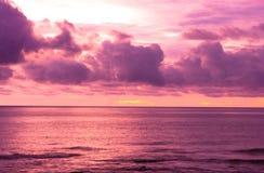 Paesaggio di tramonto Fotografie Stock Libere da Diritti