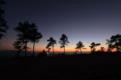 Paesaggio di tramonto fotografia stock