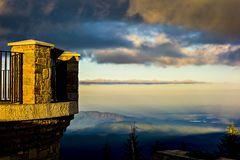 Paesaggio di tramonto del mimtchell del supporto di estate fotografia stock