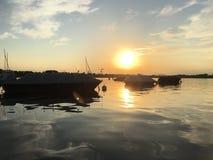 Paesaggio di tramonto nel lago di Constance Fotografia Stock Libera da Diritti