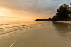 Paesaggio di tramonto su Koh Kood Immagine Stock