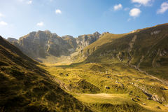 Paesaggio di una cresta rocciosa nelle montagne carpatiche fotografia stock libera da diritti