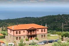 Paesaggio di vacanze estive della Grecia Fotografia Stock