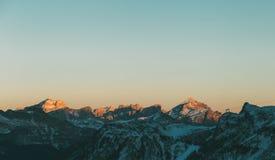 Paesaggio di Val di Fassa Dolomites, vista dal picco di Pordoi del Sass Immagini Stock