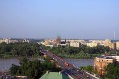 Paesaggio di Varsavia Fotografia Stock