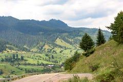 Paesaggio di Vatra Dornei Fotografie Stock