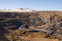 Paesaggio di vecchia miniera di carbone Fotografie Stock Libere da Diritti