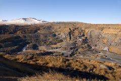 Paesaggio di vecchia miniera di carbone Fotografia Stock