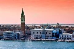 Paesaggio di Venezia con il campanile Immagine Stock Libera da Diritti