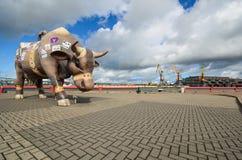 Paesaggio di Ventspils Fotografia Stock