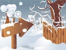 Paesaggio di vettore di inverno Illustrazione Vettoriale