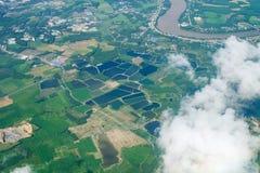 Paesaggio di vista aerea del cielo di terreno coltivabile Fotografia Stock Libera da Diritti