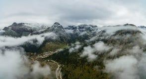Paesaggio di vista aerea di Zhagana in Gannan, cinese Gansu fotografie stock libere da diritti