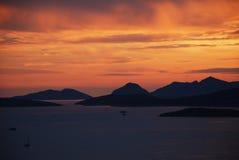 Paesaggio di vista del mare Fotografie Stock Libere da Diritti