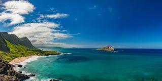 Paesaggio di vista della costa Est di Oahu Immagine Stock Libera da Diritti