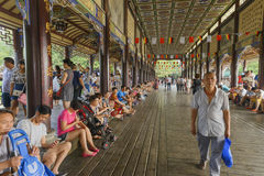 Paesaggio di vita di svago del ponte di Nanqiao di estate Fotografie Stock Libere da Diritti