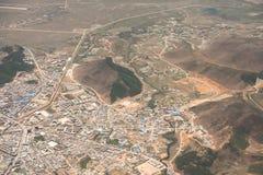 Paesaggio di volo dell'aria nel Tibet Chaina hight immagini stock