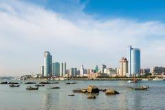Paesaggio di Xiamen nel pomeriggio Immagine Stock