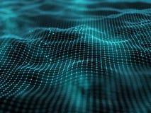 paesaggio digitale 3D con i binari di raccordo ed i punti illustrazione vettoriale