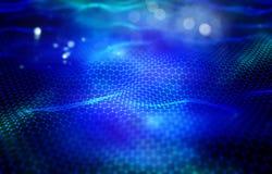 paesaggio digitale 3D Connessioni di rete, fondo moderno royalty illustrazione gratis