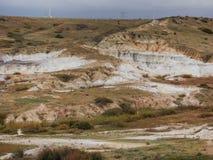 Paesaggio dipinto della miniera fotografia stock