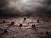 Paesaggio disboscato Immagine Stock