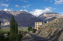 Paesaggio in Diskit in Ladakh fotografia stock