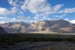 Paesaggio in Diskit in Ladakh immagine stock libera da diritti