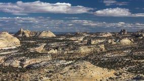 Paesaggio a distanza della roccia lungo 70 da uno stato all'altro Colorado occidentale vicino Fotografia Stock