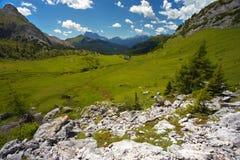 Paesaggio in dolomia, Italia della montagna Immagine Stock Libera da Diritti